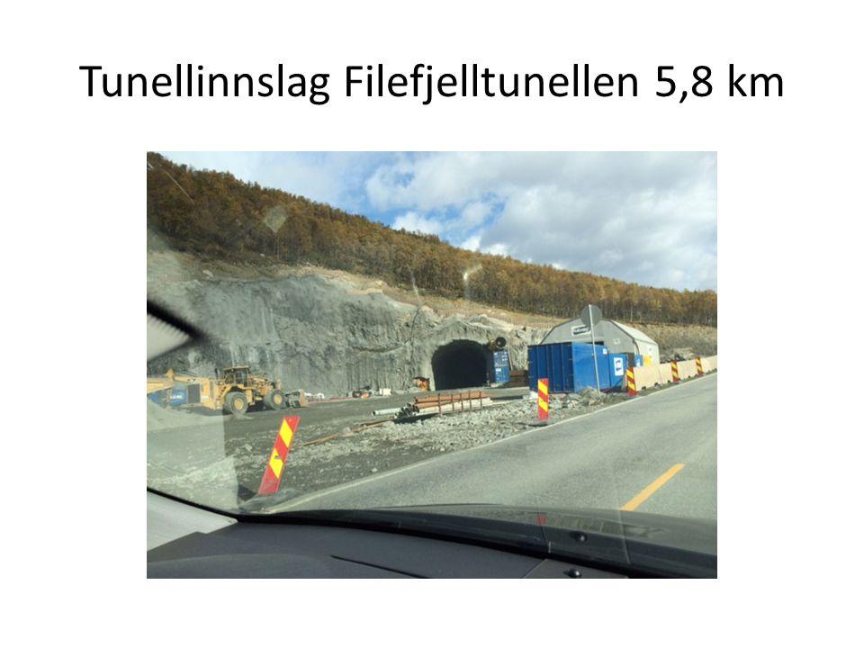 Tunellinnslag Filefjelltunellen 5,8 km