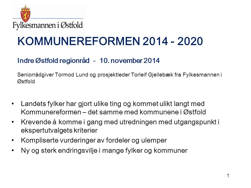 Hovedaktivitetene i første fase Hovedinnholdet i en første fase frem til kommunestyrets strategiske retningsvalg i februar/mars 2015: 1.Kommunestyret vedtar en prosjektplan.