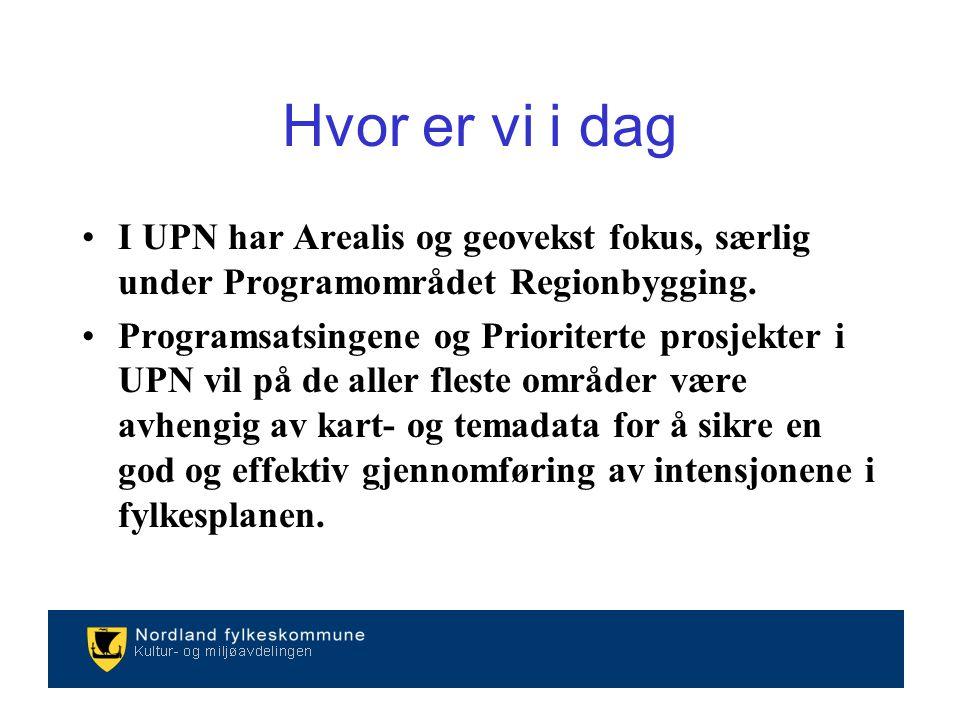 I UPN har Arealis og geovekst fokus, særlig under Programområdet Regionbygging.