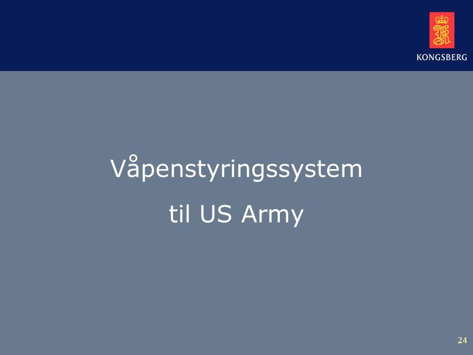 24 Våpenstyringssystem til US Army