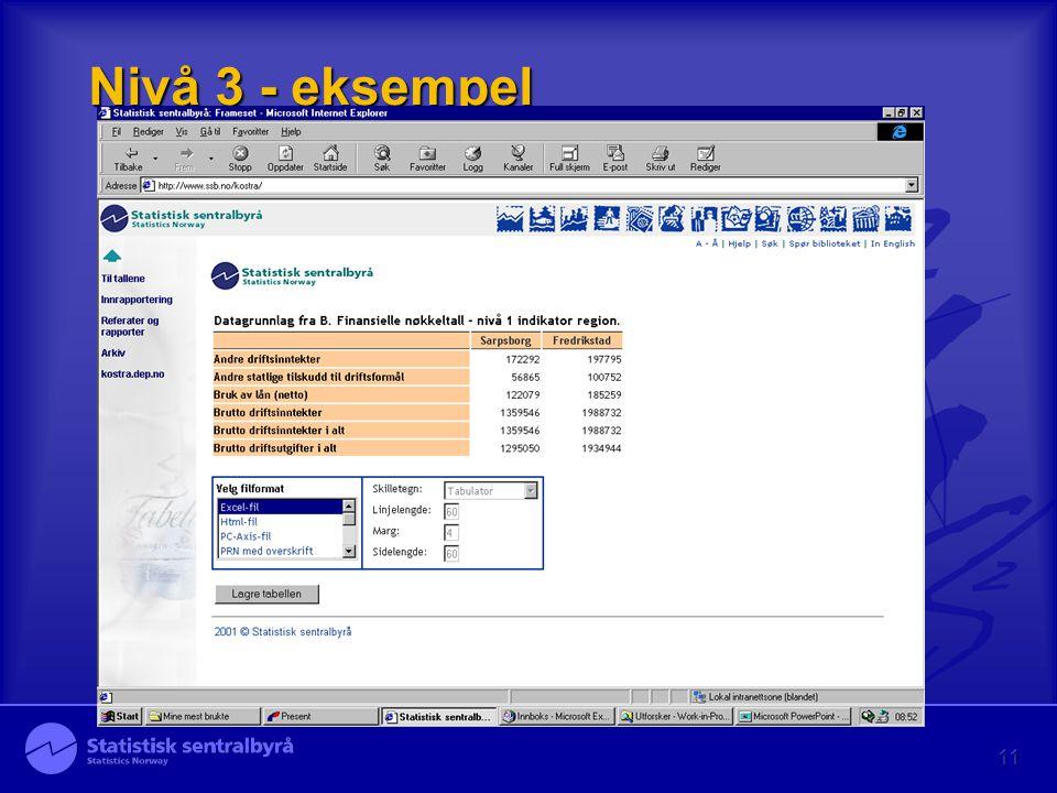 11 Nivå 3 - eksempel