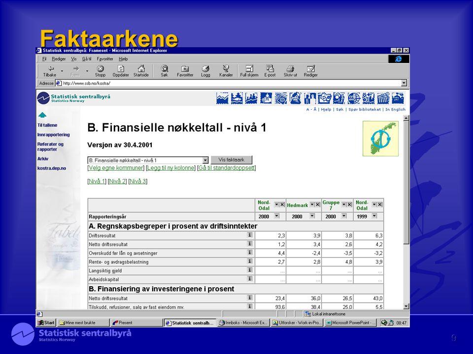 10 Nivå 3 med PX-web