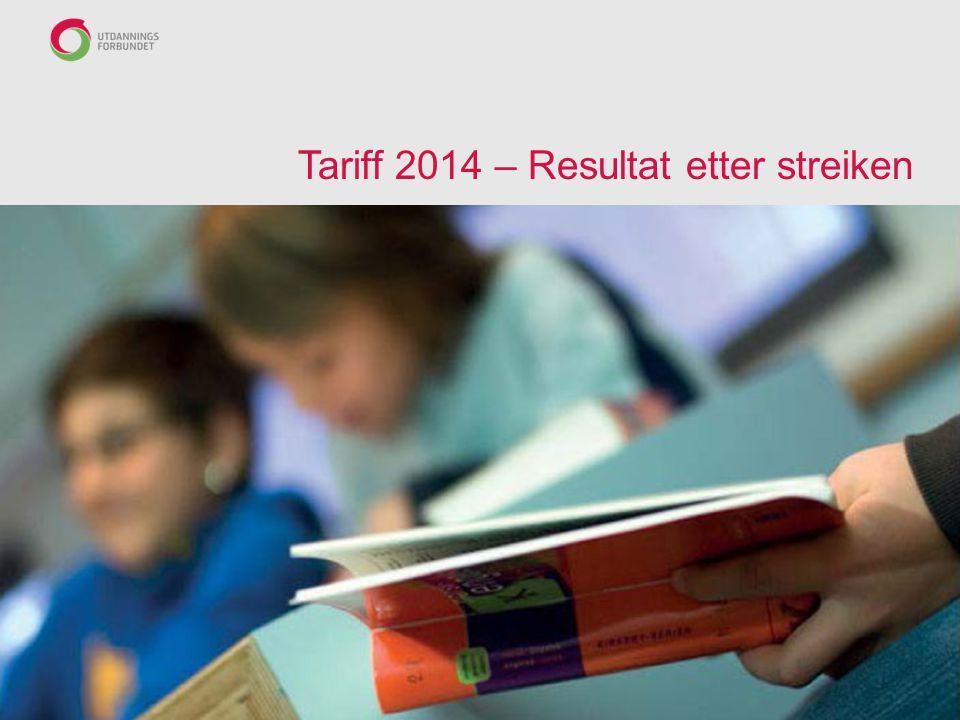 Tariff 2014 – Resultat etter streiken