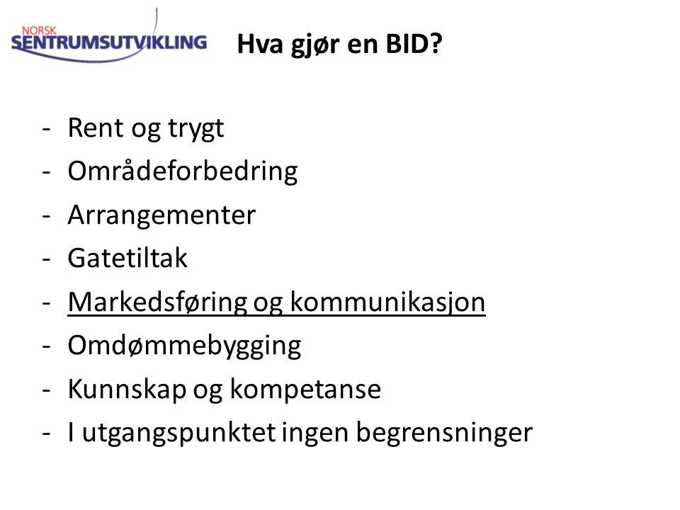 Hva gjør en BID.