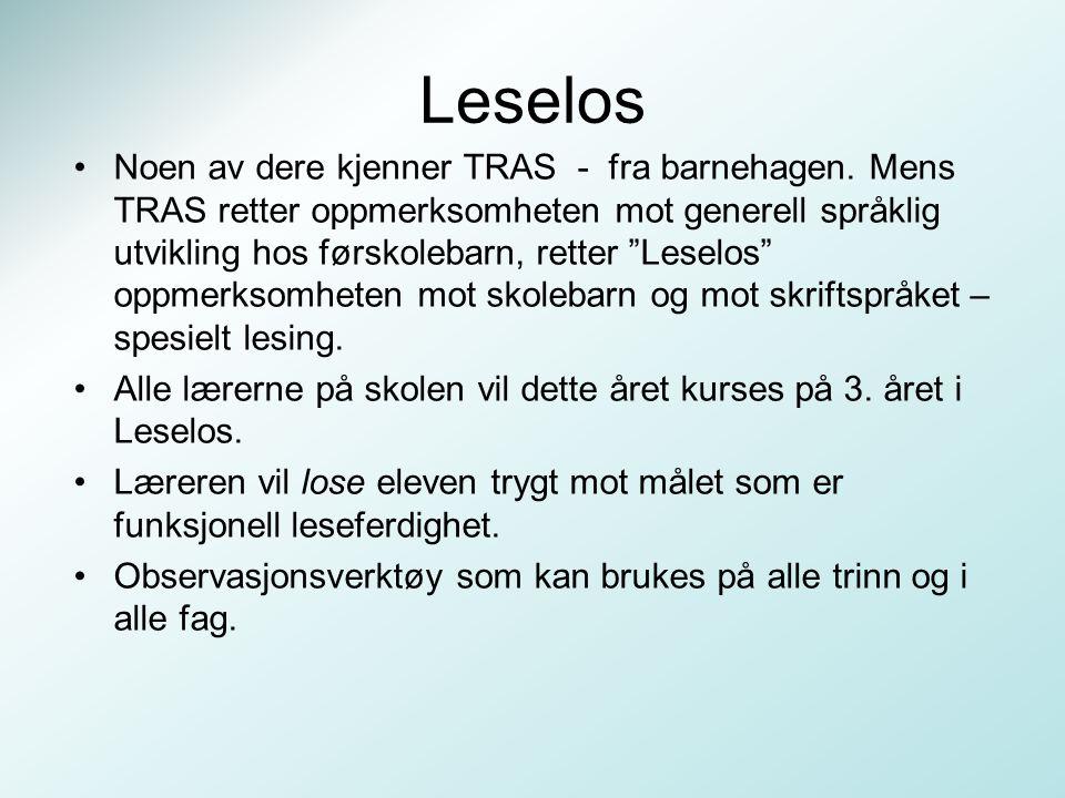 """Leselos Noen av dere kjenner TRAS - fra barnehagen. Mens TRAS retter oppmerksomheten mot generell språklig utvikling hos førskolebarn, retter """"Leselos"""