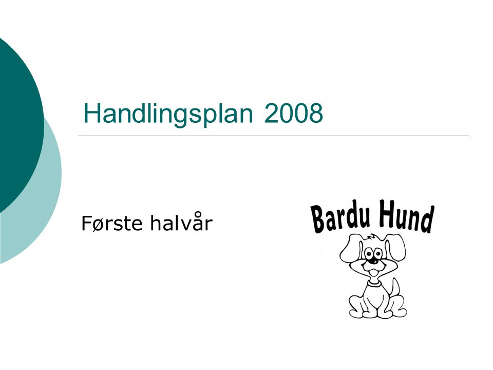 Handlingsplan 2008 Første halvår