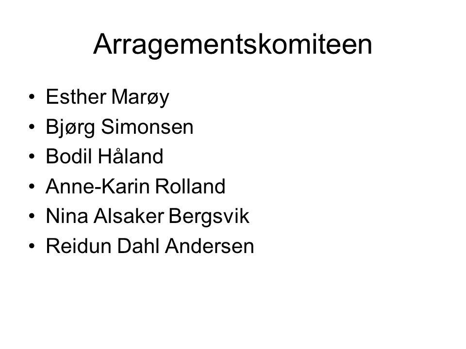 Arragementskomiteen Esther Marøy Bjørg Simonsen Bodil Håland Anne-Karin Rolland Nina Alsaker Bergsvik Reidun Dahl Andersen