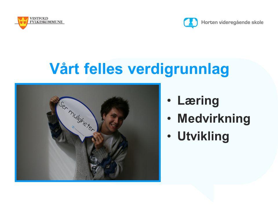 Vårt felles verdigrunnlag Læring Medvirkning Utvikling