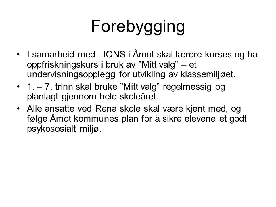 """Forebygging I samarbeid med LIONS i Åmot skal lærere kurses og ha oppfriskningskurs i bruk av """"Mitt valg"""" – et undervisningsopplegg for utvikling av k"""
