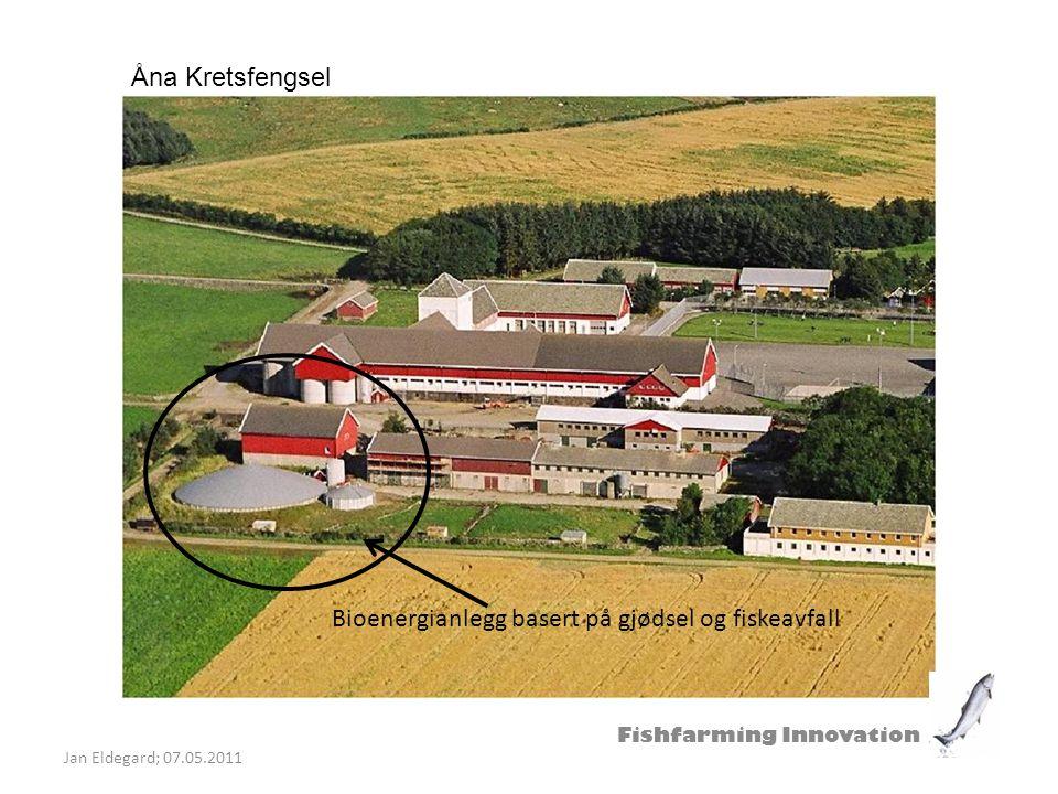 Fishfarming Innovation Jan Eldegard; 07.05.2011 Bioenergi benyttes til varmtvann