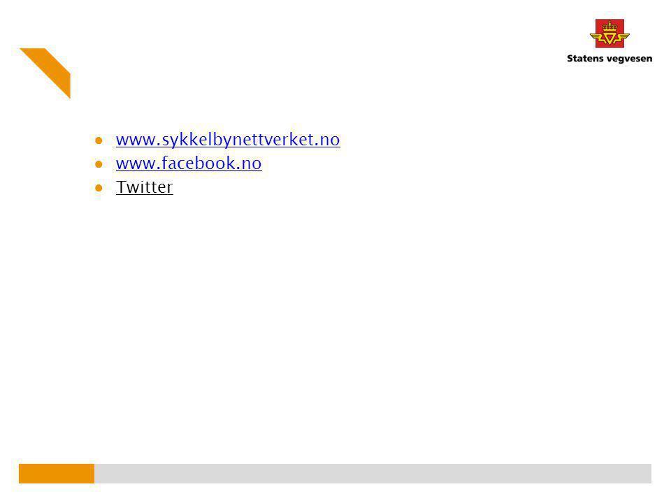 ● www.sykkelbynettverket.no www.sykkelbynettverket.no ● www.facebook.no www.facebook.no ● Twitter