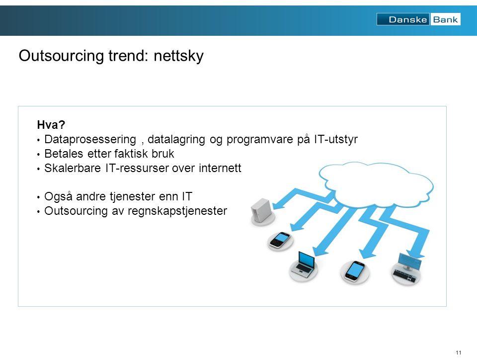 11 Outsourcing trend: nettsky Hva.
