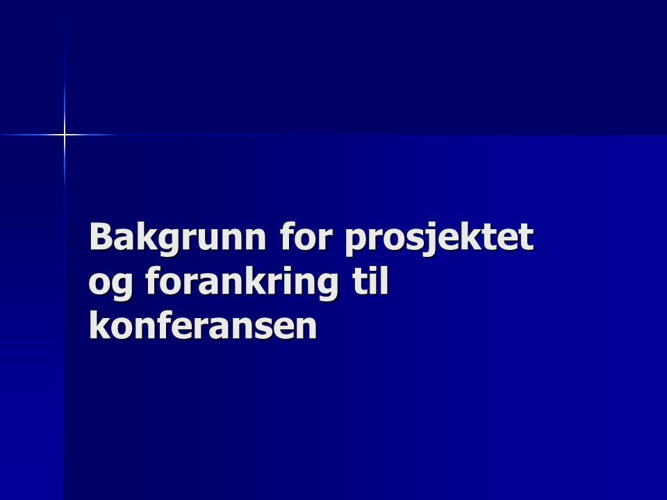 Bakgrunn Bakgrunn Kunnskapsløftet Kunnskapsløftet St.