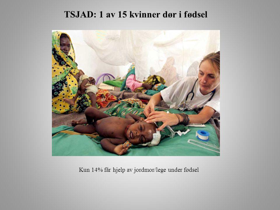 TSJAD: 1 av 15 kvinner dør i fødsel Kun 14% får hjelp av jordmor/lege under fødsel