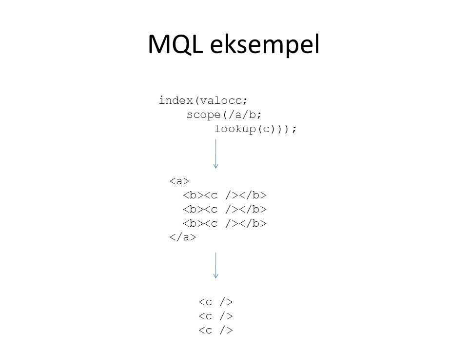 XQuery/XPath Spørringsspråk for XML-data Semantiske likheter med SQL Utviklet av the XML Query working group of the W3C Oppnådde status som recommendation i 2007
