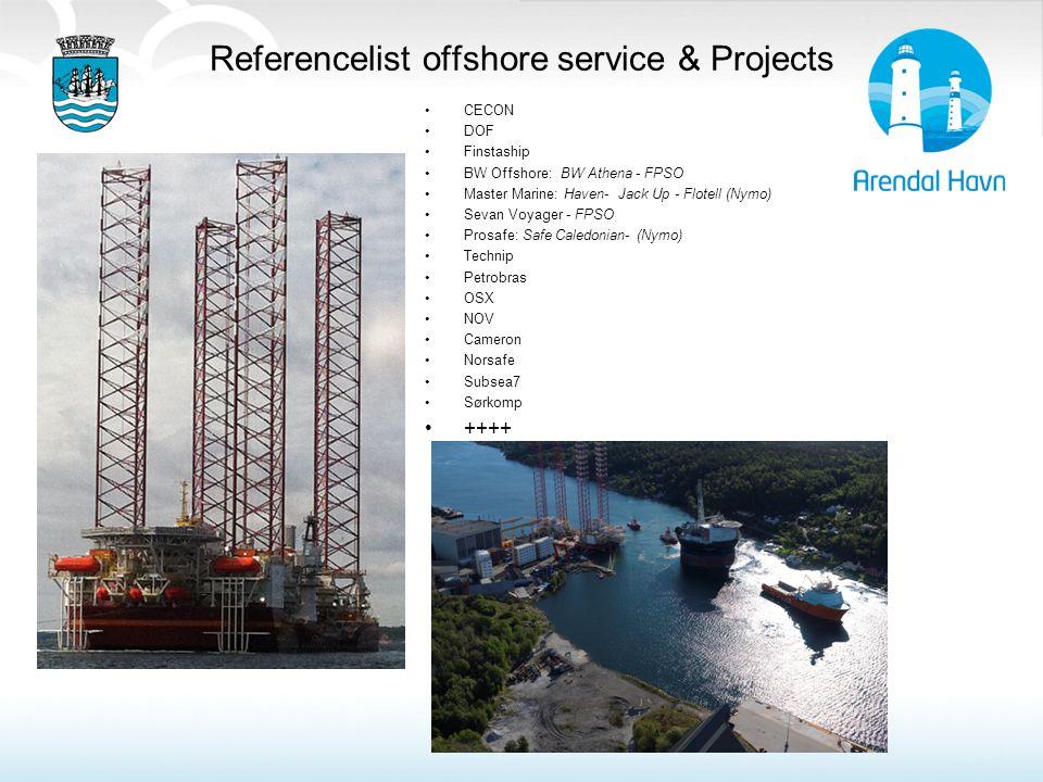 Referencelist offshore service & Projects CECON DOF Finstaship BW Offshore: BW Athena - FPSO Master Marine: Haven- Jack Up - Flotell (Nymo) Sevan Voya