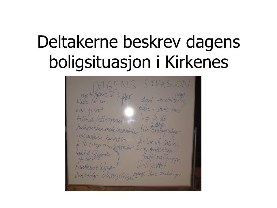 Deltakerne beskrev dagens boligsituasjon i Kirkenes