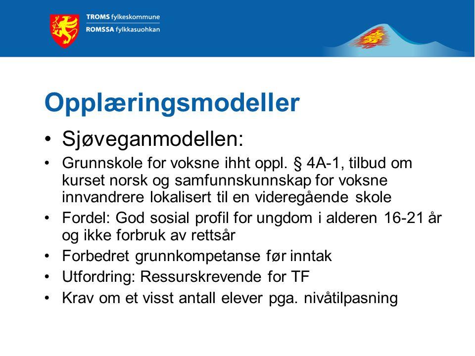 Opplæringsmodeller Sjøveganmodellen: Grunnskole for voksne ihht oppl.