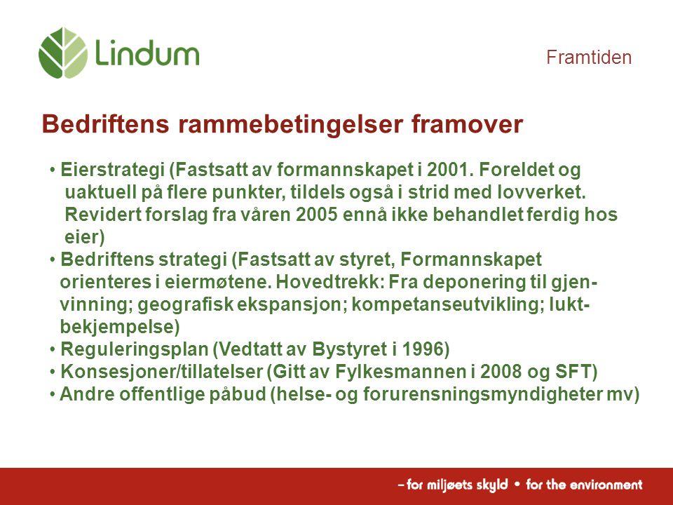 Framtiden Bedriftens rammebetingelser framover Eierstrategi (Fastsatt av formannskapet i 2001.