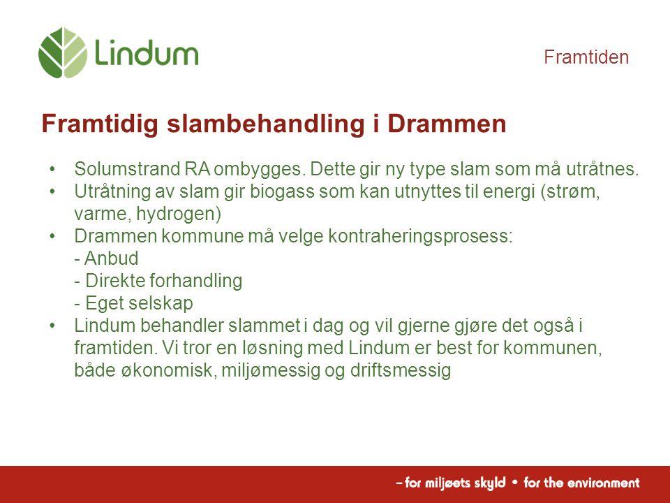 Framtiden Framtidig slambehandling i Drammen Solumstrand RA ombygges.