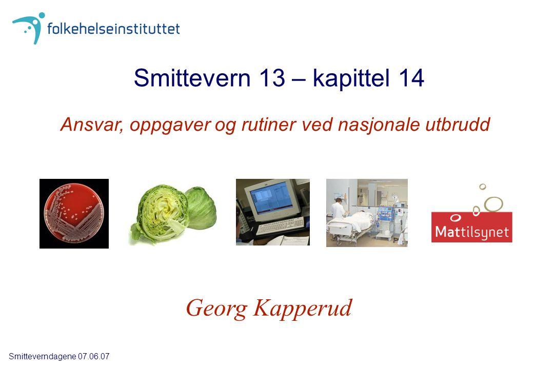 Retningslinjer for samarbeid Mattilsynet DK - Kommunelegen Smittevern 13: Word-format på www.utbrudd.no