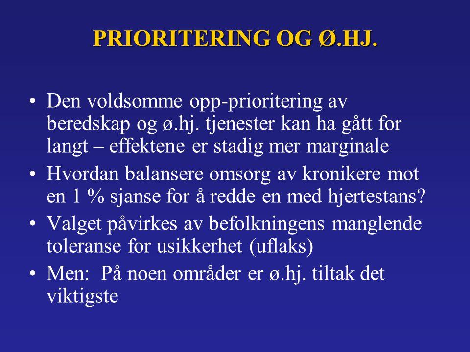 PRIORITERING OG Ø.HJ.Den voldsomme opp-prioritering av beredskap og ø.hj.