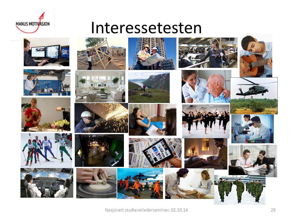 Interessetesten Nasjonalt studieveilederseminar, 02.10.1429