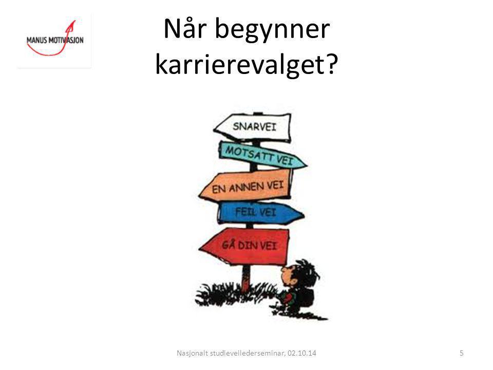 Mestring og motivasjon Nasjonalt studieveilederseminar, 02.10.1426 Hva har du behov for.