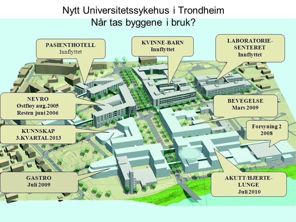 Nytt Universitetssykehus i Trondheim Når tas byggene i bruk.