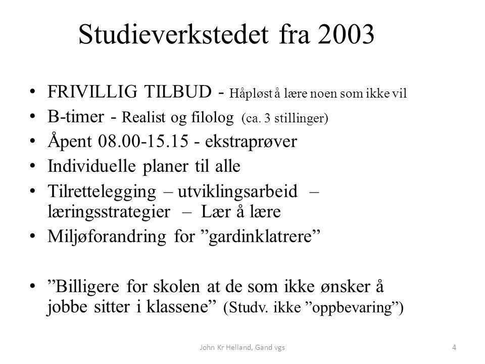 FRIVILLIG TILBUD - Håpløst å lære noen som ikke vil B-timer - Realist og filolog (ca. 3 stillinger) Åpent 08.00-15.15 - ekstraprøver Individuelle plan