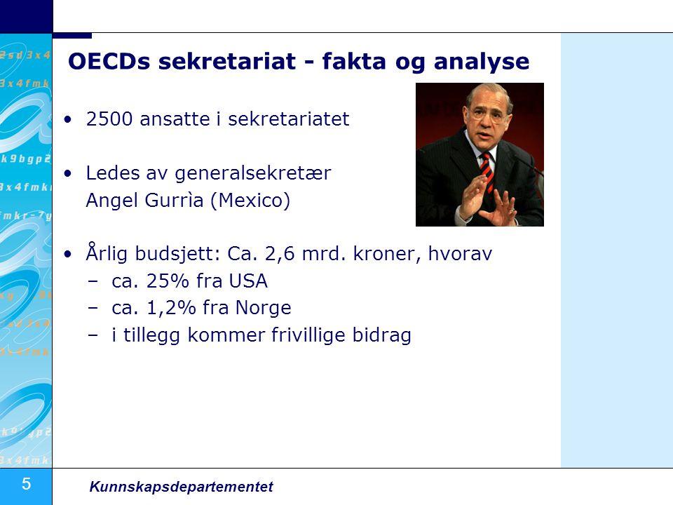 16 Kunnskapsdepartementet Land- og temastudier Norge har deltatt i mange OECD-studier siste 10-år.
