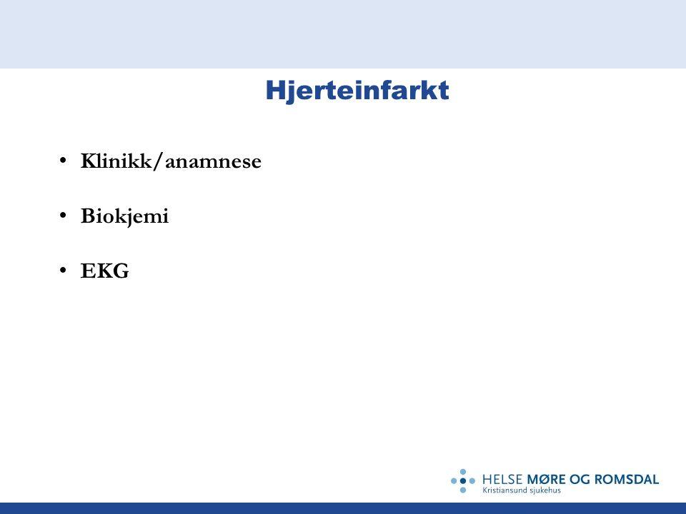 Klinikk/anamnese Biokjemi EKG
