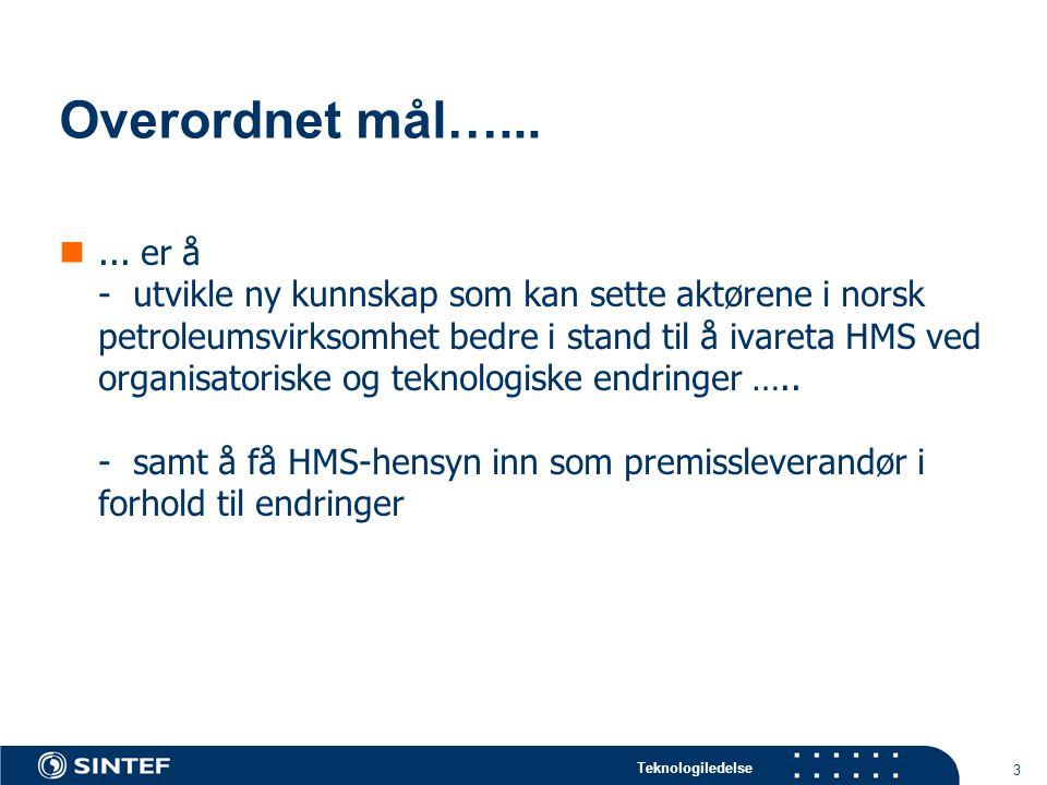 Teknologiledelse 3 Overordnet mål…......