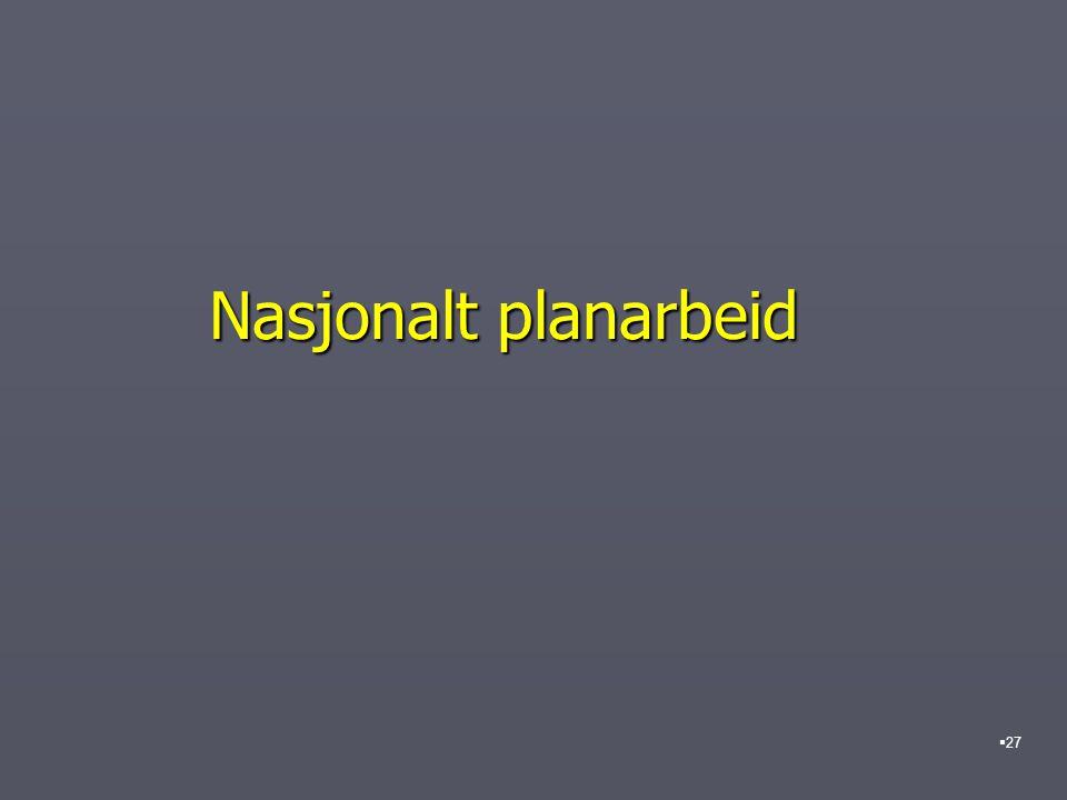 Nasjonalt planarbeid  27