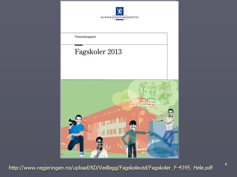 http://www.regjeringen.no/upload/KD/Vedlegg/Fagskoleutd/Fagskoler_F-4395_Hele.pdf 6