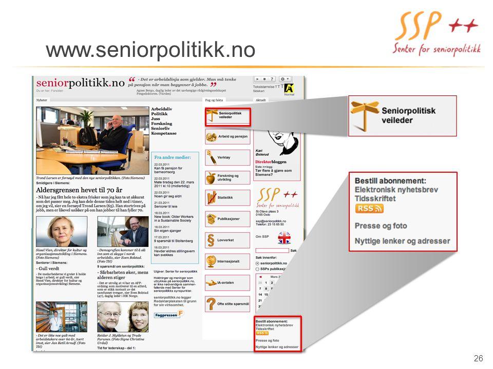 26 www.seniorpolitikk.no