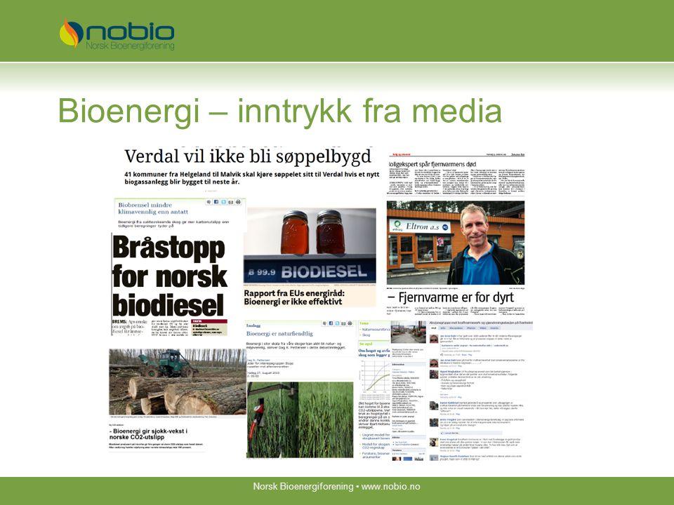 Bioenergi – inntrykk fra media Norsk Bioenergiforening www.nobio.no
