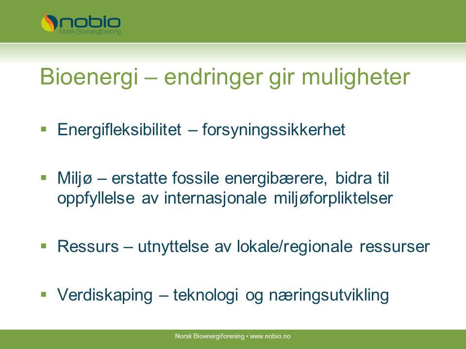 Bioenergi - en del av fremtidens energisystem  En tydelig bioenergi- og biodrivstoffstrategi  Konsistens, forutsigbarhet og langsiktighet i virkemidler og rammebetingelser  Bransje som samarbeider, deler erfaringer, informerer og ser muligheter.