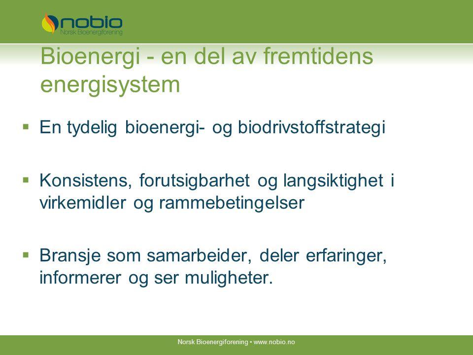 Bioenergi er en del av løsningen Norsk Bioenergiforening www.nobio.no Velkommen til bioenergidagene 5.- 6.
