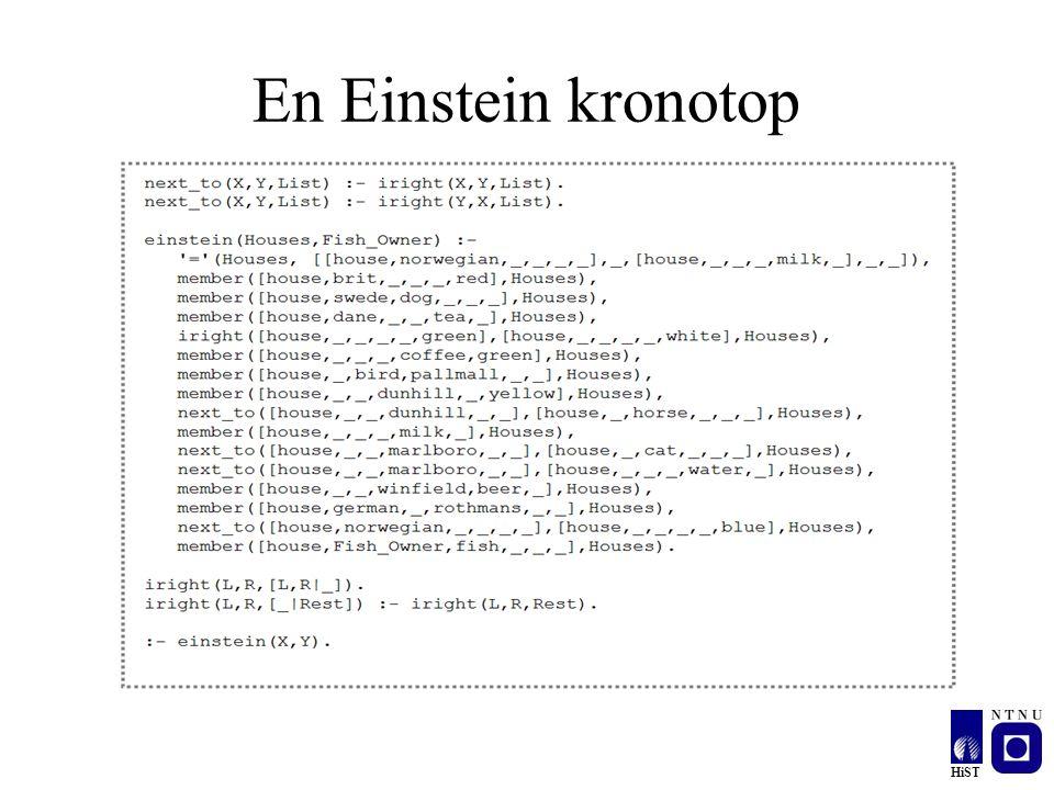 HiST En Einstein kronotop
