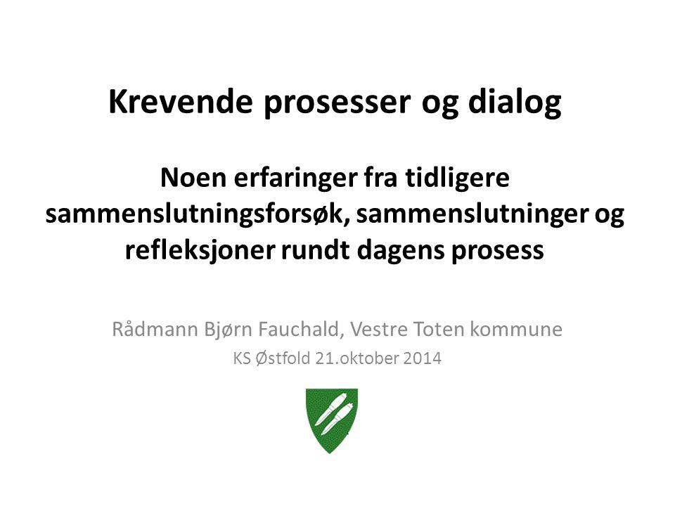 Erfaringer fra de som har slått seg sammen «Å bygge en ny kommune», Asplan Viak og Telemarkforskning, 2005