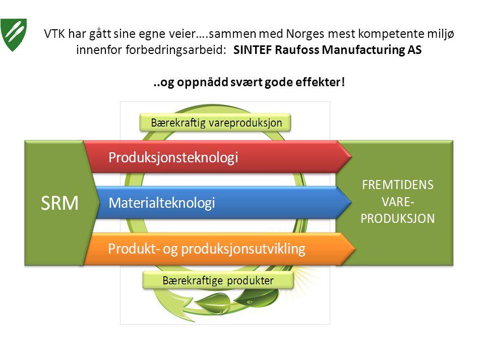 VTK har gått sine egne veier….sammen med Norges mest kompetente miljø innenfor forbedringsarbeid: SINTEF Raufoss Manufacturing AS..og oppnådd svært go