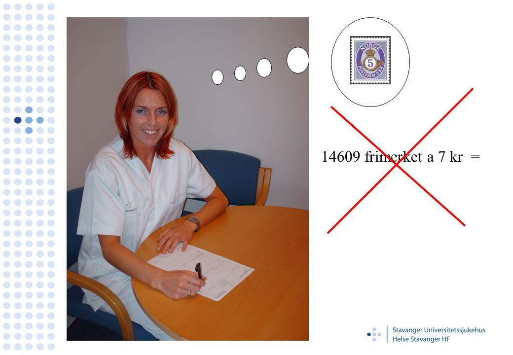 14609 frimerket a 7 kr =