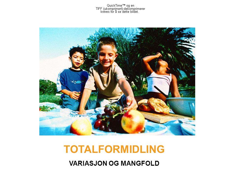 TOTALFORMIDLING VARIASJON OG MANGFOLD