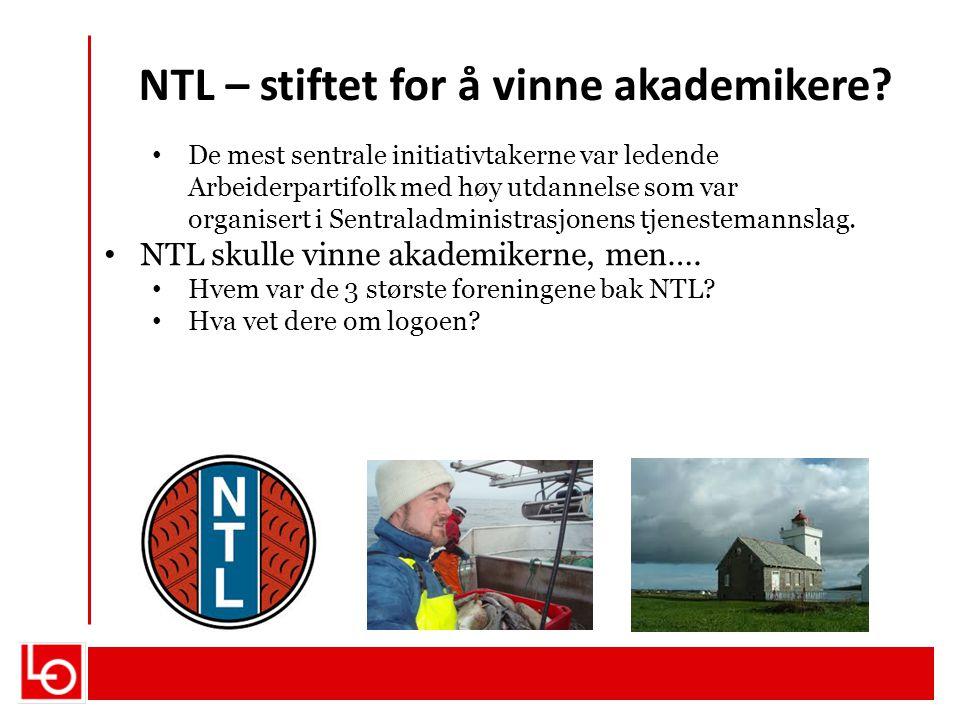 NTL – stiftet for å vinne akademikere? De mest sentrale initiativtakerne var ledende Arbeiderpartifolk med høy utdannelse som var organisert i Sentral