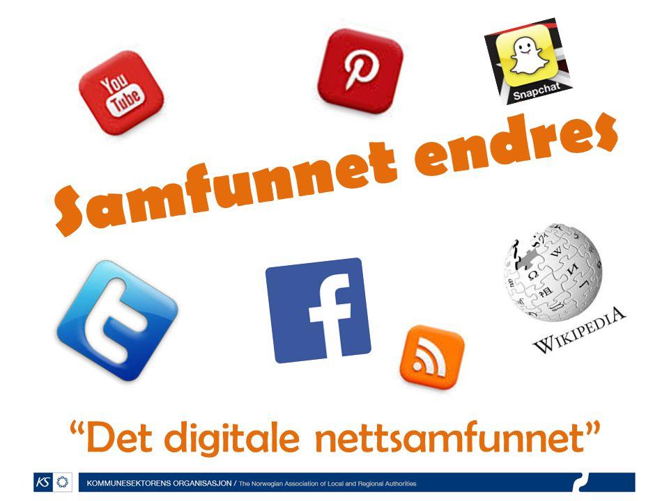 """Samfunnet endres """"Det digitale nettsamfunnet"""""""