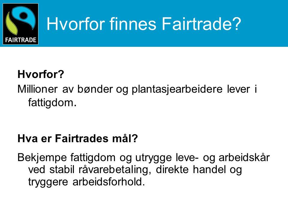 Hvorfor velge Fairtrade.