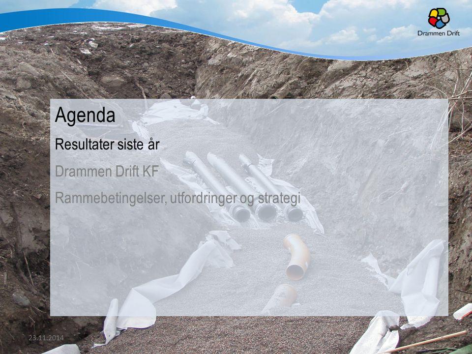 Agenda Resultater siste år Drammen Drift KF Rammebetingelser, utfordringer og strategi 23.11.20143