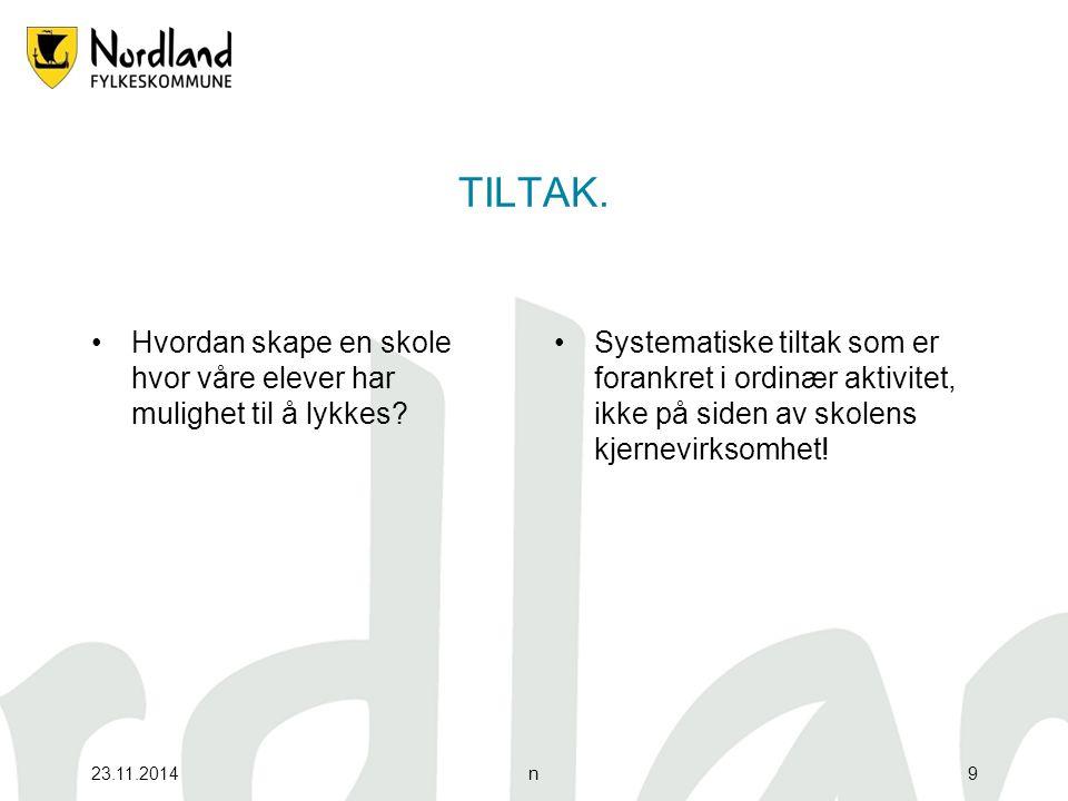 23.11.201410 Helhetlig skolemiljø Trivsel og læringstrykk.