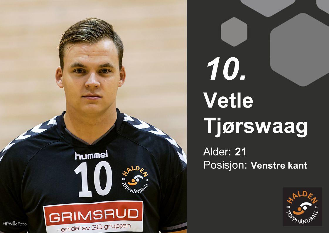 Alder: 21 Posisjon: Venstre kant Vetle Tjørswaag 10.